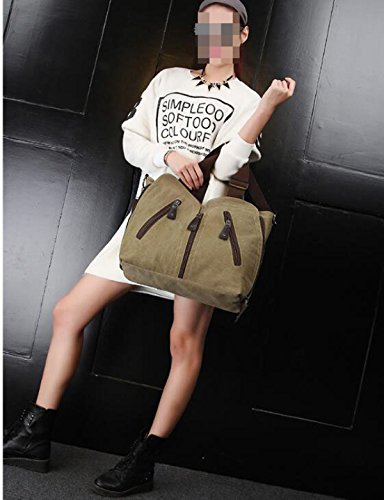 Bolsos Coreanos De La Moda Del Bolsillo De La Multi-cremallera De La Lona a4