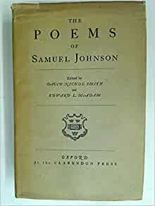 Amazon.com: The poems of Samuel Johnson,: Samuel Johnson ...