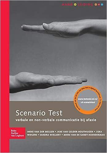 Scenario test handleiding: Verbale en non-verbale ...