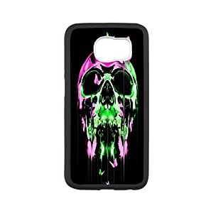 Sugar Skull Productive Back Phone Case For Samsung Galaxy S6 -Pattern-4