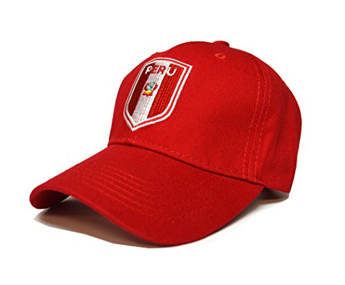Peru Country Flag Sports Cap Hat Any Celebration World Cup Pride Olympics (Red)