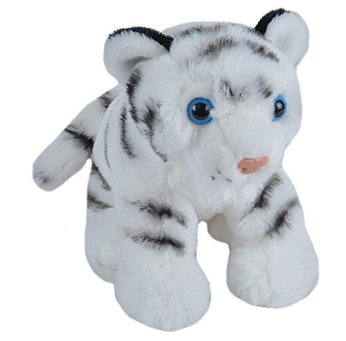 Wild Republic White Tiger Plush, Stuffed Animal, Plush Toy, Gifts for Kids, Cuddlekins 8 Inches -