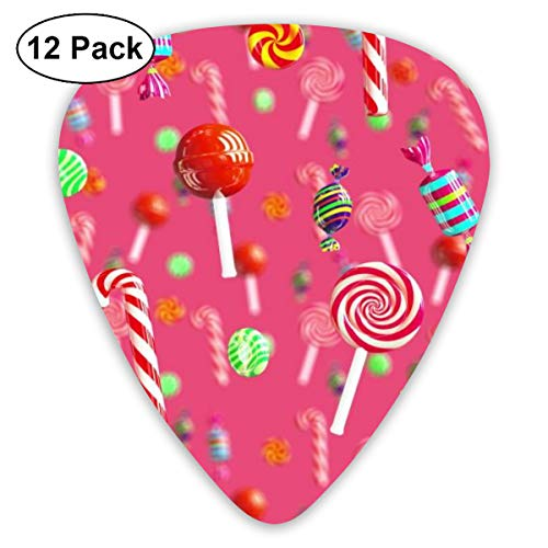 Sweet Juicy Candies Suitable for Electric Guitars, Acoustic Guitars, Guitar Selection 12 Pieces. ()