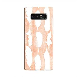 Cover It Up - White Feather Pink Galaxy Note 8 Hard Case