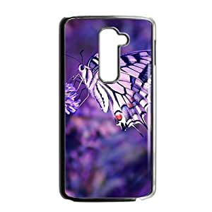 Purple lovely butterfly Phone Case for LG G2