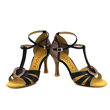 Tacón Rojo Blanco de Amarillo Personalizado baile Personalizables Morado Rosa Salsa Azul Zapatos Latino Purple Negro U170w1gq