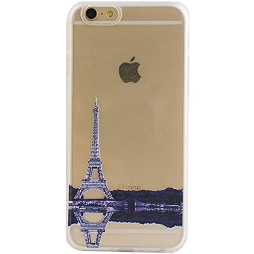 Voguecase® für Apple iPhone 5 5G 5S hülle, Schutzhülle / Case / Cover / Hülle / TPU Gel Skin (Paris Turm 05) + Gratis Universal Eingabestift