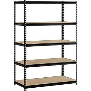 "Heavy Duty Garage Shelf Steel Metal Storage 5 Level Adjustable Shelves Unit 72"" H x 48"" W x 24"" Deep"