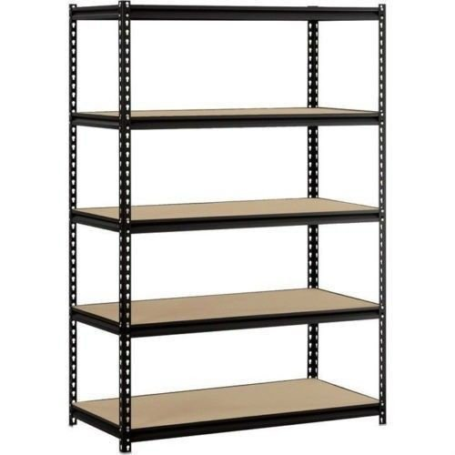 Heavy Duty Garage Shelf Steel Metal Storage 5 Level Adjustable Shelves Unit 72'' H x 48'' W x 24'' Deep by Hardware & Outdoor