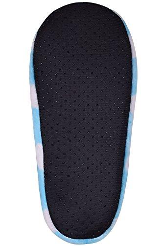 Pantofole Invernali Da Donna Antiscivolo Scarpe Calde Da Interno Casa Pantofole Muli Scarpe Da Camera Blu