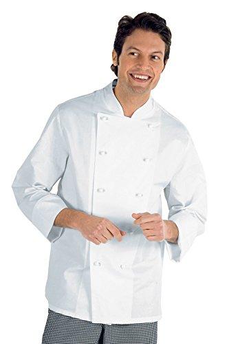 Antipanico Bianco Bianco 22395 210 Cuoco Isacco Cotone Giacca Tessuto Bottoni 100 Classica 3xl m² Mezza Gr Manica vwB4w1q