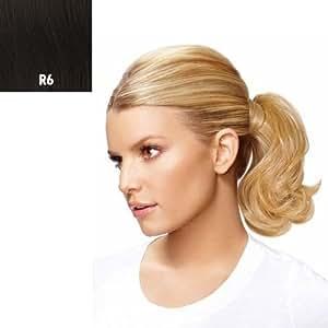 Mid-length Bump up Pony Wavy Jessica Simpson Hair Extension Hairdo Dark Chocolate