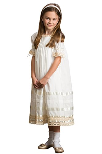 Strasburg Children Lace Flower Girl Dress Vintage Heirloom Birthday Portrait Girls Dresses Ivory by Strasburg Children