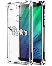 Suhctup Funda Transparent Compatible para Xiaomi Redmi 6A,Carcasa Protectora [Antigolpes] Suave Silicona TPU Bumper Cojín de Aire de Cuatro Esquinas Protector Gel para Redmi 6A,A8