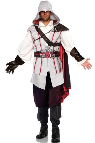 Leg Avenue Men's Assassin's Creed 8 Piece Ezio Deluxe Deluxe Costume Cosplay, Grey, ()