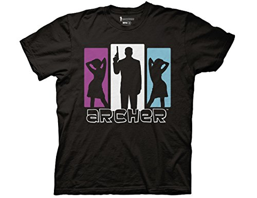 Ripple Junction Archer Silhouette with Girl Adult T-Shirt Small Black]()