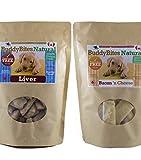 Meat Lovers Bundle Made in Canada - 1 Large Bag Liver Buddy Bites Natural Dog Treats + 1 Large Bag Bacon N Cheese Buddy Bites Natural Dog Treats for Training & Reward (675g/23.8oz)