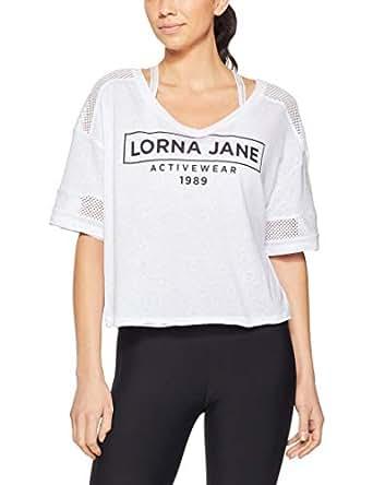 Lorna Jane Women's Working Out T-Shirt, White, M