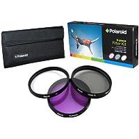 Polaroid Optics 86mm 3 Piece Filter Set (UV, CPL, FLD)