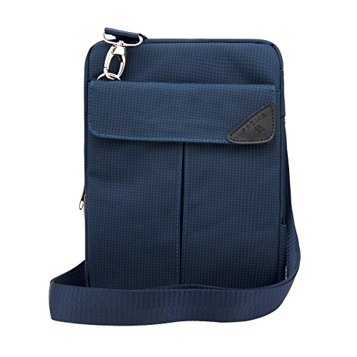 Padwa Lifestyle Pouch Soft Sleeve Carrying Bag Case with Handle Shoulder Strap Zipper for iPad Mini3 Mini2 Mini and 7 to 8 Inch Android Tablet PC (Blue)