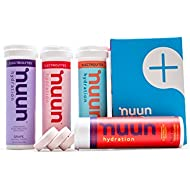 Nuun Hydration: Electrolyte Drink Tablets, Juicebox Mixed Flavor Pack, Box of 4 Tubes (40  servings), to Recover Essential Electrolytes Lost Through Sweat