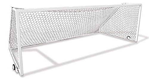 - First Team Golden Goal 44 Element-PM 12 x 6.5 ft. Permanent Aluminum Soccer Goal44; White