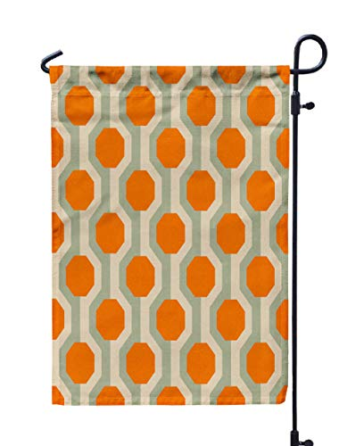 Shorping Home Garden Flag, 12x18Inch Retro Pattern from The and Abstract Vintage Background in Sixties Style for Holiday and Seasonal Double-Sided Printing Yards -
