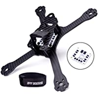 222mm FPV Racing Drone Frame Carbon Fiber Stretch-X Quadcopter Frame Kit 4mm Arm for QA/V XS with PDB Power Distribution Board and LiPo Battery Strap