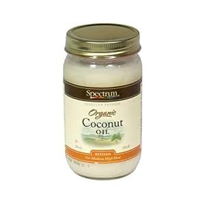 Spectrum Organic Refined Coconut Oil, 14 Ounce -- 12 per case.