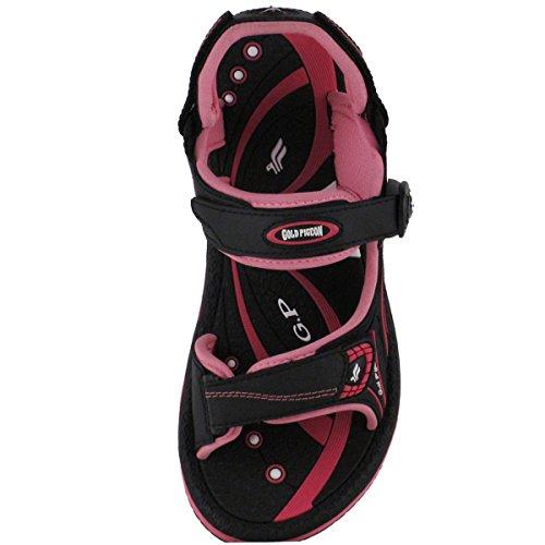 Gouden Duifschoenen Gp9149 Duurzame Outdoor Watersport Sandaal Met Easy Snap Sluiting Voor Mannen Dames Kids 8666 Zwart