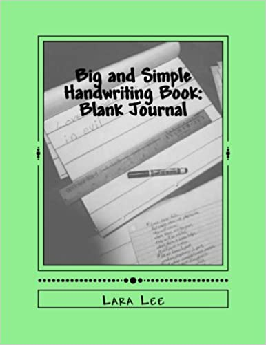 Big and Simple Handwriting Book This book has 180 pages of 1 inch spaced lines for big handwriting for early learners and those who struggle with handwriting. This is single lined paper for those who find 2 or 3 lined paper confusing to write on. Great for special needs students and adu