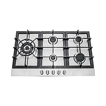 Cosmo 30 Stainless Steel Gas Cooktop with 5 Sealed Burners (850SLTX-E)