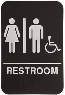 Rock Ridge Unisex Restroom Sign Black White