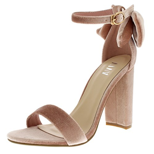 Womens Block Ankle Barely Sandals