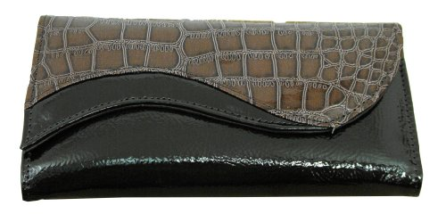 Nice Shades Ladies Clutch Wallet Croco Alligator Print Credit Cards ID. Brown, Bags Central