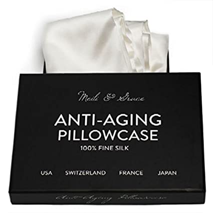 86714469388 Anti-Aging 100% Mulberry Silk Pillowcase by Meili & Grace-The Best Pure