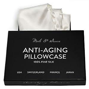 Amazon Com Anti Aging 100 Mulberry Silk Pillowcase By