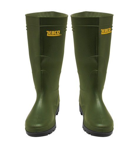 Zebco Unisex PVC - Botas Verde (Green)