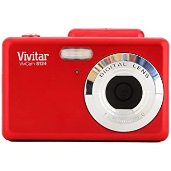Vivitar VS124-RED 16.1 MP ViviCam iTwist Digital Camera, Red