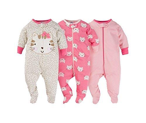 Gerber Onesies Baby Girl Sleep N Play Sleepers 3