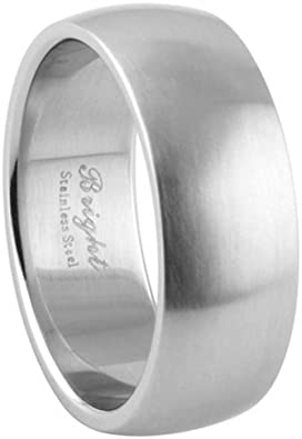 JewelryVolt Stainless Steel Ring Plain Color
