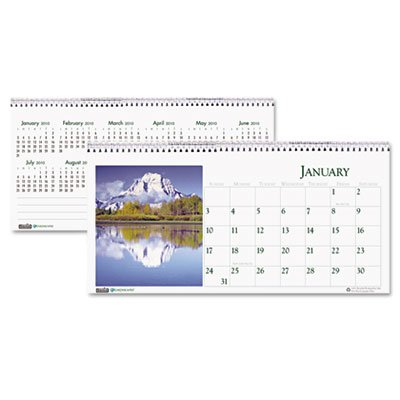 (House Of Doolittle 3649 Scenic Photos Desk Tent Monthly Calendar, 8-1/2 x 4-1/2)