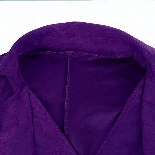 Uniform Gothic Vintage Cosplay De Chaqueta Cómodo Battercake Victoriana Tuxedo Punto Chaqueta Lila Long Coat Jacket Steampunk aw4HHFOq