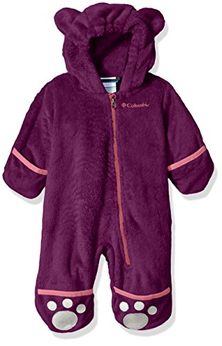 Fleece Bunting - Columbia Baby Girls' Foxy II Bunting, Dark Raspberry, 6/12