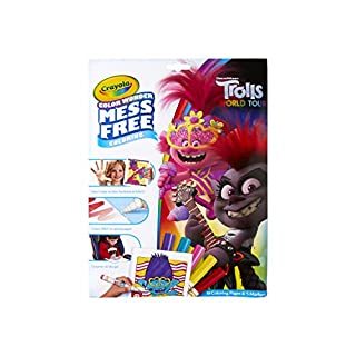 Crayola Wonder Trolls 2 Pages, Mess Free Coloring, Gift for Kids, Age 3, 4, 5, 6