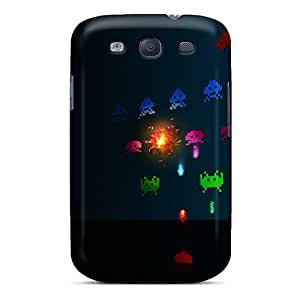SdA1400BKhr Case Cover Protector For Galaxy S3 Space Invaders Case