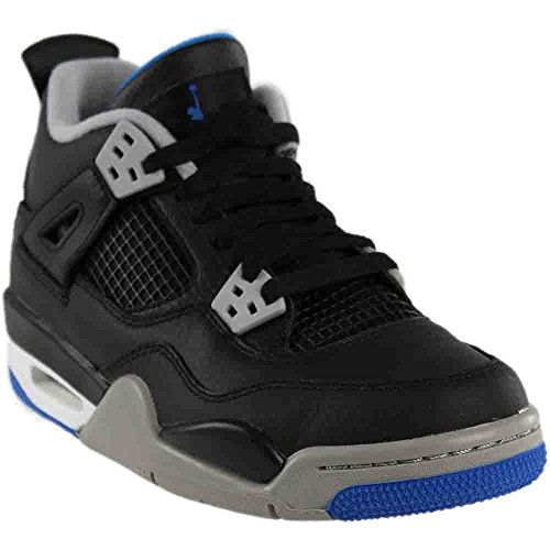 NIKE Air Jordan 4 Retro BG Motorsports Alternate Big Kid's Basketball Shoes Black/Soar/Matte Silver, 6