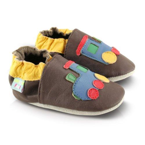 Snuggle Feet Babyschuhe Leder weich - Eisenbahn | 18-24 Monate