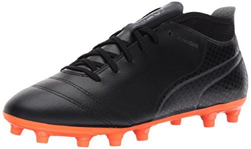 PUMA Herren One 17.4 FG Fußballschuh Puma Black-Puma Schwarz-schockierende Orange