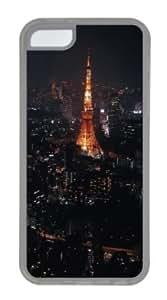 Apple iPhone 5C Case,iPhone 5C Cases - Night In Paris TPU Custom iPhone 5C Case Cover for iPhone 5C - Transparent...